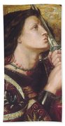 Joan Of Arc Kisses The Sword Of Liberation Beach Towel