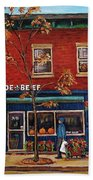Joe Beef Restaurant Montreal Beach Towel