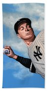 Joe Dimaggio Beach Towel