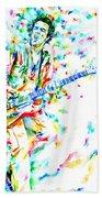 Joe Strummer Playing Live Beach Towel