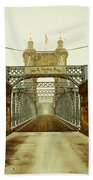 John A. Roebling Bridge Beach Towel