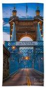John A. Roebling Suspension Bridge Beach Towel