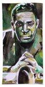 John Coltrane - Watercolor Portrait Beach Towel