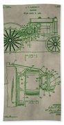 John Deere Patent Beach Towel