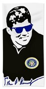John F Kennedy Signature Wayfarer Beach Towel by Jost Houk