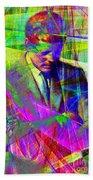 John Fitzgerald Kennedy Jfk In Abstract 20130610v2 Beach Sheet