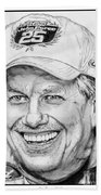 John Force In 2010 Beach Towel by J McCombie