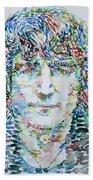 John Lennon Portrait.1 Beach Towel