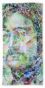 John Lennon Portrait.2 Beach Towel