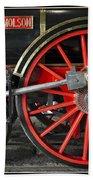 John Molson Steam Train Locomotive Beach Sheet