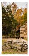 John Oliver Pioneer Cabin Beach Towel