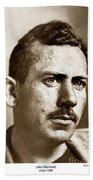 John Steinbeck American Author Circa 1938 Beach Towel