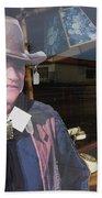 John Wayne Tall In The Saddle Homage 1944 Cardboard Cut-out  Tombstone Arizona 2004 Beach Towel