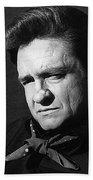 Johnny Cash Close-up The Man Comes Around Music Homage Old Tucson Az  Beach Towel
