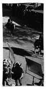 Johnny Cash Riding Horse Filming Promo Main Street Old Tucson Arizona 1971 Beach Towel