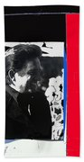 Johnny Cash  Smiling Collage 1971-2008 Beach Towel