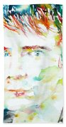 Johnny Rotten - Watercolor Portrait Beach Towel