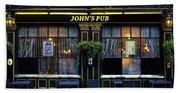John''s Pub Beach Towel