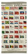 Johnsons New Chart Of National Emblems Beach Towel by Georgia Fowler