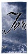 Jordan - Wise In Judgement Beach Towel by Christopher Gaston