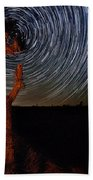 Joshua Tree Star Trails Beach Towel