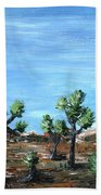 Joshua Trees Beach Towel by Anastasiya Malakhova