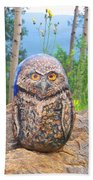 Journey Of Burrowing Owl Beach Towel