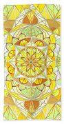 Joy Beach Towel by Teal Eye  Print Store