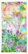 Joyful Flowers By Jan Marvin Beach Towel