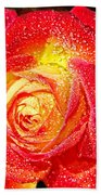 Joyful Rose Beach Towel