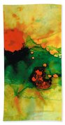 Jubilee - Abstract Art By Sharon Cummings Beach Towel