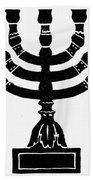 Judaism Candelabra Beach Sheet