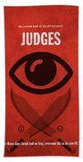 Judges Books Of The Bible Series Old Testament Minimal Poster Art Number 7 Beach Towel
