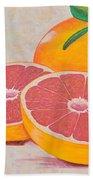 Juicy Pink Grapefruit Beach Towel