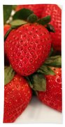 Juicy Strawberries Beach Towel