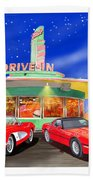 Julies Corvettes Beach Towel by Jack Pumphrey