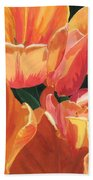 Julie's Tulips Beach Towel