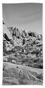 Jumbo Rocks Bw Beach Towel