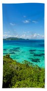 Jungle And Turquoise Water Beach Towel