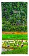 Jungle Homestead Paint Version Beach Towel