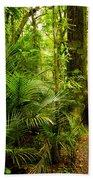 Jungle Scene Beach Towel