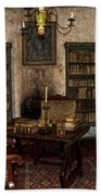 Junipero Serra Library In Carmel Mission Beach Towel