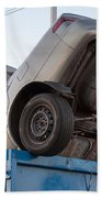 Junk Cars In Dumpster Cash For Clunkers Beach Towel