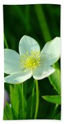 Just A Little White And Yellow Blossom Beach Towel