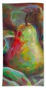 Just A Pear - Impressionist Still Life Beach Towel