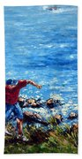 Just A Pebble In The Water Beach Towel