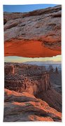 Just Before Sunrise At Canyonlands Beach Towel