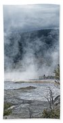 Just Before The Storm - Mammoth Hot Springs Beach Towel