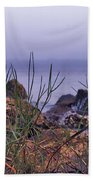 Just Over The Rocks Beach Towel