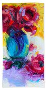 Just Past Bloom - Roses Still Life Beach Towel